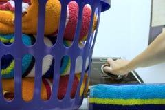 Dia da lavanderia - primeiro plano do foco Fotografia de Stock