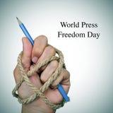 Dia da liberdade de imprensa do mundo fotografia de stock