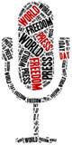 Dia da liberdade de imprensa do mundo Comemorado o 1º de maio ilustração royalty free