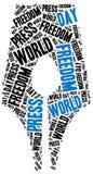 Dia da liberdade de imprensa do mundo Comemorado o 1º de maio ilustração stock