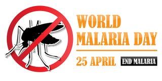 Dia da malária do mundo ilustração do vetor