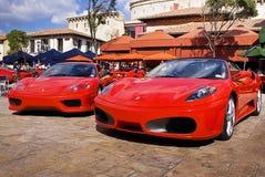 Dia da mostra de Ferrari - aranha Modena & F430 de 360 Imagem de Stock