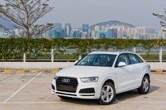 Dia da movimentação do teste de Audi Q3 30 TFSI 2017 Fotos de Stock