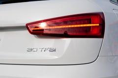 Dia da movimentação do teste de Audi Q3 30 TFSI 2017 Foto de Stock Royalty Free