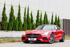 Dia da movimentação do teste de Mercedes-AMG GT S 2015 Fotos de Stock Royalty Free