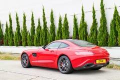 Dia da movimentação do teste de Mercedes-AMG GT S 2015 Imagens de Stock Royalty Free