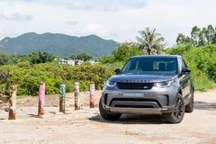 Dia da movimentação do teste da descoberta 2018 de Land rover imagem de stock