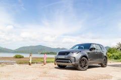 Dia da movimentação do teste da descoberta 2018 de Land rover foto de stock royalty free