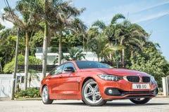 Dia da movimentação do teste do Gran Coupe 2018 de BMW 420i fotos de stock royalty free