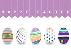 Dia da Páscoa para o ovo no fundo branco Teste padrão colorido de Chevron para ovos Ovo colorido isolado no fundo branco Imagens de Stock Royalty Free