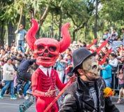 Dia da parada inoperante de Diâmetro de los Muertos em Cidade do México - México fotos de stock