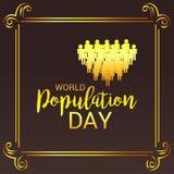 Dia da população de mundo ilustração royalty free