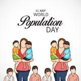 Dia da população de mundo Fotografia de Stock Royalty Free