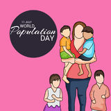 Dia da população de mundo Imagem de Stock Royalty Free