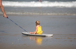 Dia da praia Imagens de Stock Royalty Free