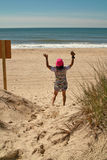 Dia da praia em Montauk, Long Island New York, EUA Imagens de Stock
