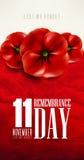 Dia da relembrança - 11 de novembro - a fim de que não nós esqueçamos Foto de Stock Royalty Free