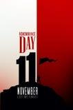 Dia da relembrança - 11 de novembro - a fim de que não nós esqueçamos Fotografia de Stock