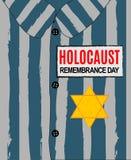 Dia da relembrança do holocausto Nós nunca esqueceremos Estrela amarela David Dia internacional de campos de concentração fascist ilustração royalty free