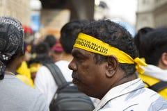 Dia 2 da reunião Bersih4, Malásia Foto de Stock