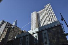 Dia da skyline de Chicago Imagem de Stock