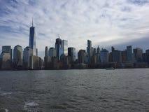Dia da skyline de Manhattan Imagens de Stock