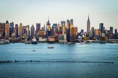 Dia 2014 da skyline de New York imagens de stock