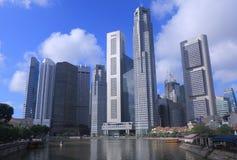 Dia da skyline de Singapura Fotos de Stock