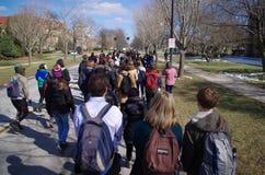 Dia da solidariedade na faculdade de Oberlin foto de stock