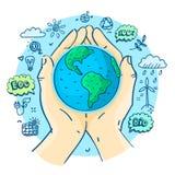 Dia da Terra feliz ilustração stock