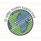 Dia da Terra feliz Fotos de Stock Royalty Free