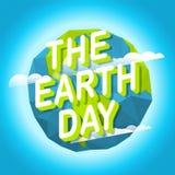 Dia da Terra feliz Dia de ambiente de mundo Imagens de Stock