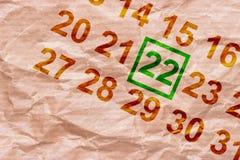 Dia da Terra marcado no calendário fotos de stock royalty free