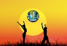 Dia da Terra. Natureza da estação Fotografia de Stock