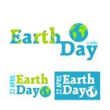 Dia da Terra no azul Ilustração do vetor Imagens de Stock