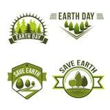 Dia da Terra, planeta das economias, grupo de símbolo da ecologia Fotografia de Stock Royalty Free