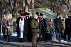 Dia da unificação de Ucrânia Cidade Dnipro Foto de Stock