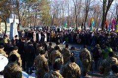 Dia da unificação de Ucrânia Cidade Dnipro Fotografia de Stock Royalty Free