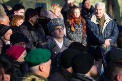 Dia da unificação de Ucrânia Cidade Dnipro Fotos de Stock Royalty Free
