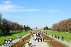 Dia da vitória no cemitério do memorial de Piskaryovskoye Imagens de Stock