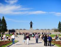 Dia da vitória no cemitério do memorial de Piskaryovskoye Fotos de Stock