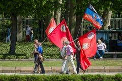 Dia da vitória no parque de Treptower berlim Fotos de Stock