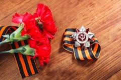 Dia da vitória 9 podem 1941 - 1945 Rússia Fotos de Stock Royalty Free