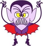 Dia das Bruxas assustador Dracula Foto de Stock Royalty Free