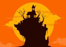 Dia das Bruxas: casa Imagem de Stock Royalty Free