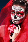 Dia das Bruxas compõe o crânio do açúcar Imagens de Stock
