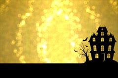 Dia das Bruxas dourado Foto de Stock Royalty Free