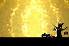 Dia das Bruxas dourado imagem de stock royalty free