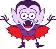 Dia das Bruxas Dracula que sente assustado Foto de Stock Royalty Free