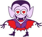 Dia das Bruxas Dracula que sente loucamente no amor Foto de Stock Royalty Free